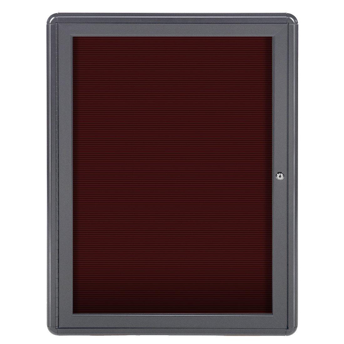 Ghent 34'' x 24'' Ovation Letter Board Burgundy, Gray Frame (OVG1-BBG)