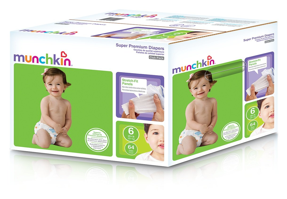 Amazon.com: Munchkin Super Ultra Premium Diapers, Size 6, XX-Large, 64 Count: Health & Personal Care