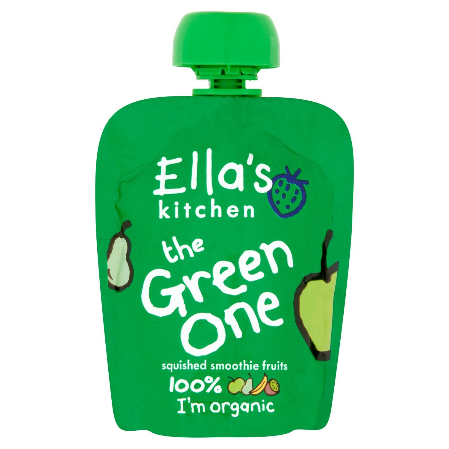 Ella's Kitchen The Green One Organic Smoothie Fruits 90 g (Pack of 12) BabyLand ELL-GREEN