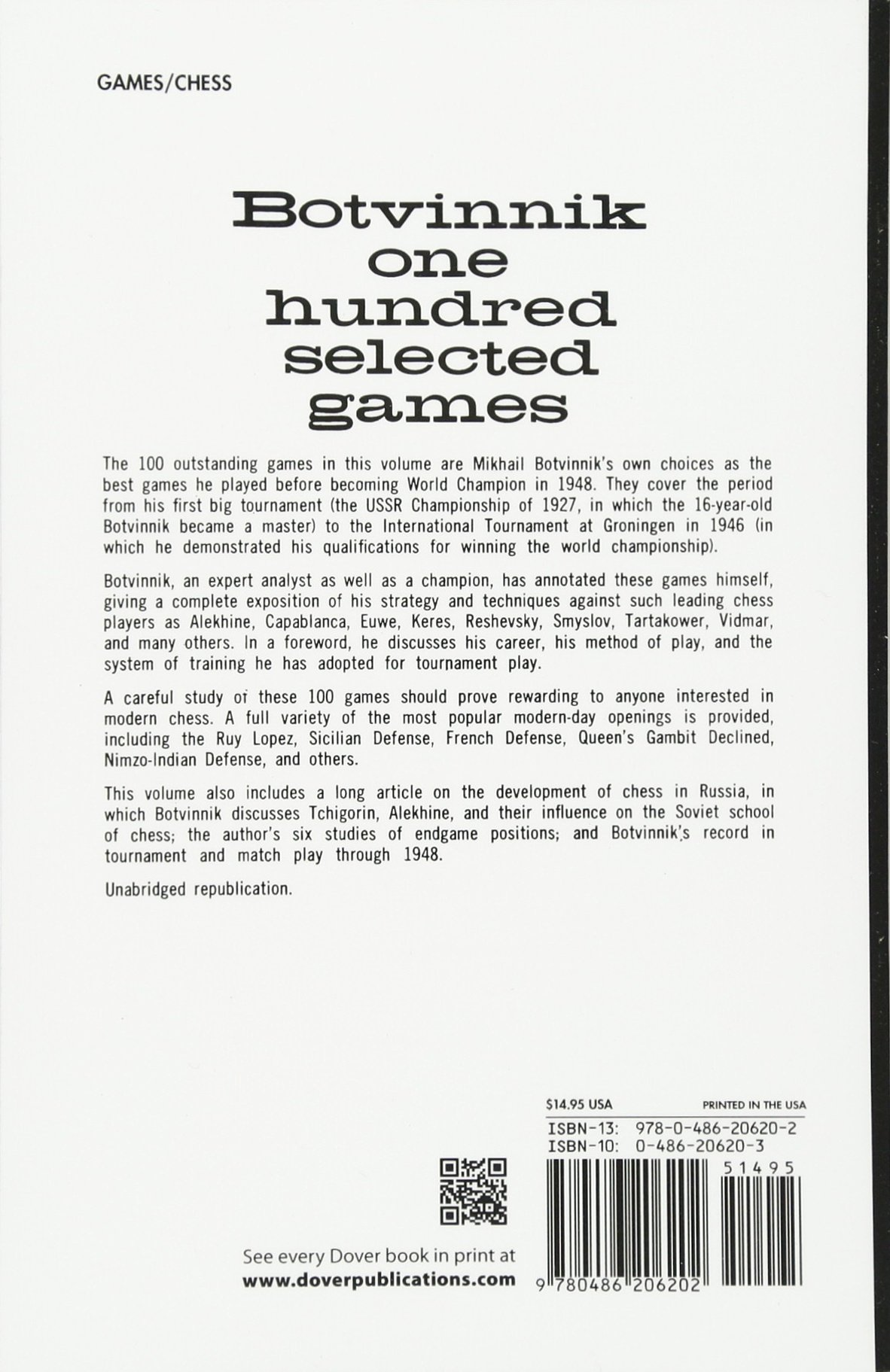 Botvinnik 100 Selected Games Pdf