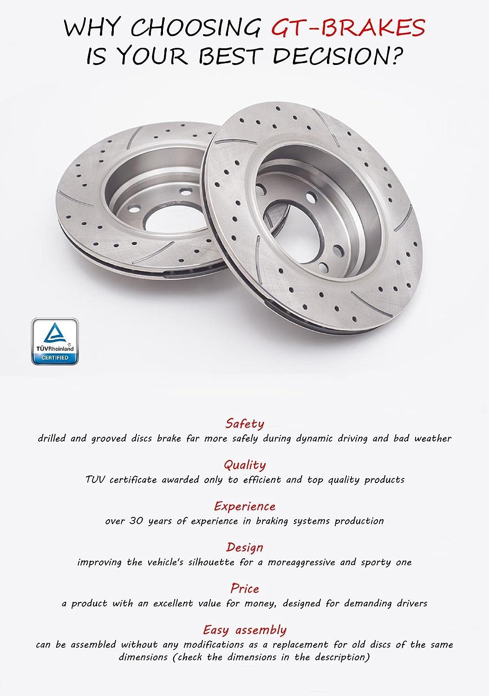 V-maxzone Gt0448/Sport Disques de frein et rembourrage GT/ /325/mm /à lavant