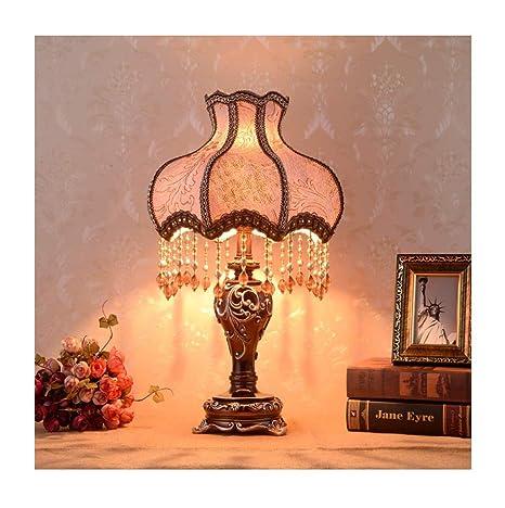 Lámpara de mesa de estilo europeo, 13 pulgadas, hecha a mano ...