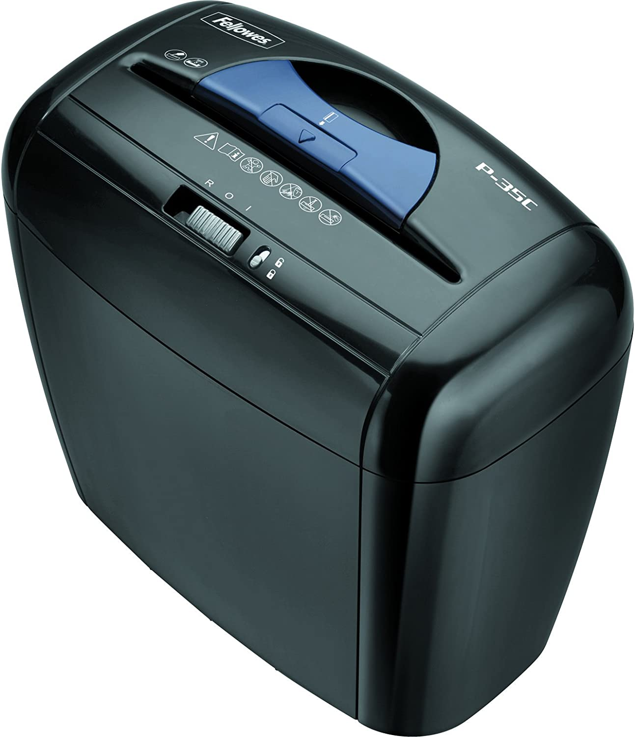 Fellowes Powershred P-35C 5-Sheet Cross-Cut Paper and Credit Card Shredder with Safety Lock