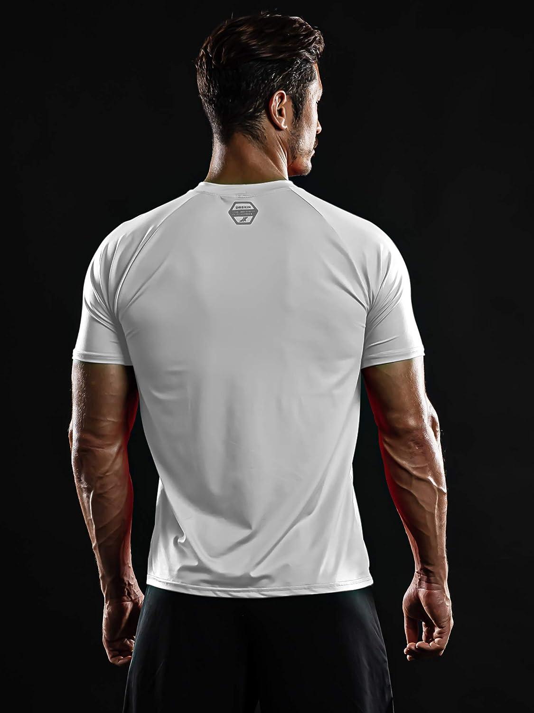 B0170ZWAOQ DRSKIN Men\'s Cool Quick Dry Sun Protection Short Sleeve Rash Guard Swim Sports Tee Shirt UPF 50+ 51asqx2LZiL