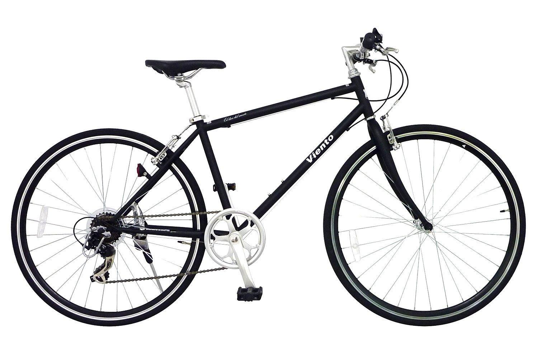 ANIMATO(アニマート) クロスバイク VIENTO(ヴィエント) 700C マットブラック シマノ7段変速 A-1 B00SIMS71Q