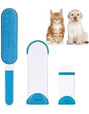 iHomy Anti-Poils Brosse pour Animal Domestique - Brosse de Nettoyage Magique Réutilisable pour enlever Les Poils d'Animaux de Compagnie avec Auto-Nettoyage Retirer Chien Chat Cheveux (Bleu)