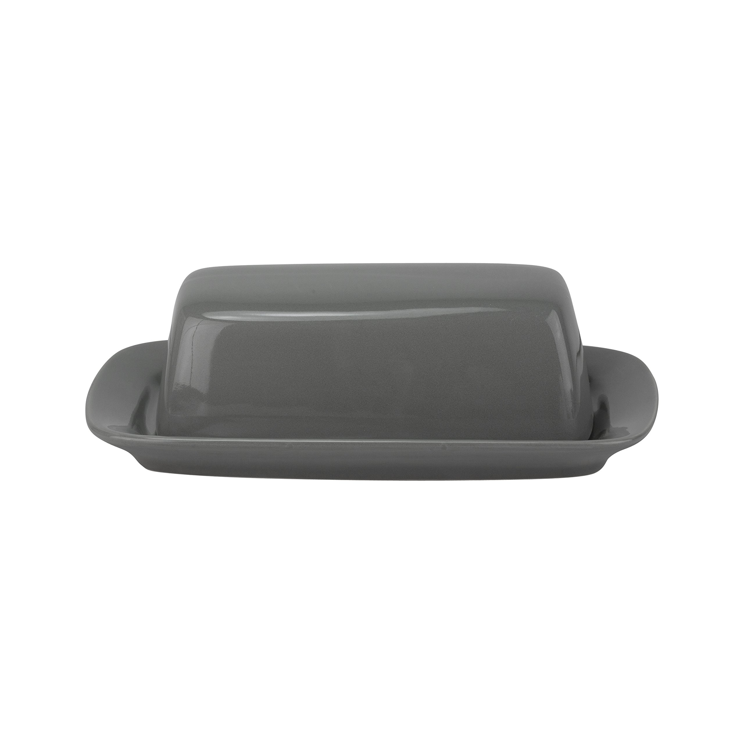 10 Strawberry Street Wazee Square 8.75'' Butter Dish - Gray