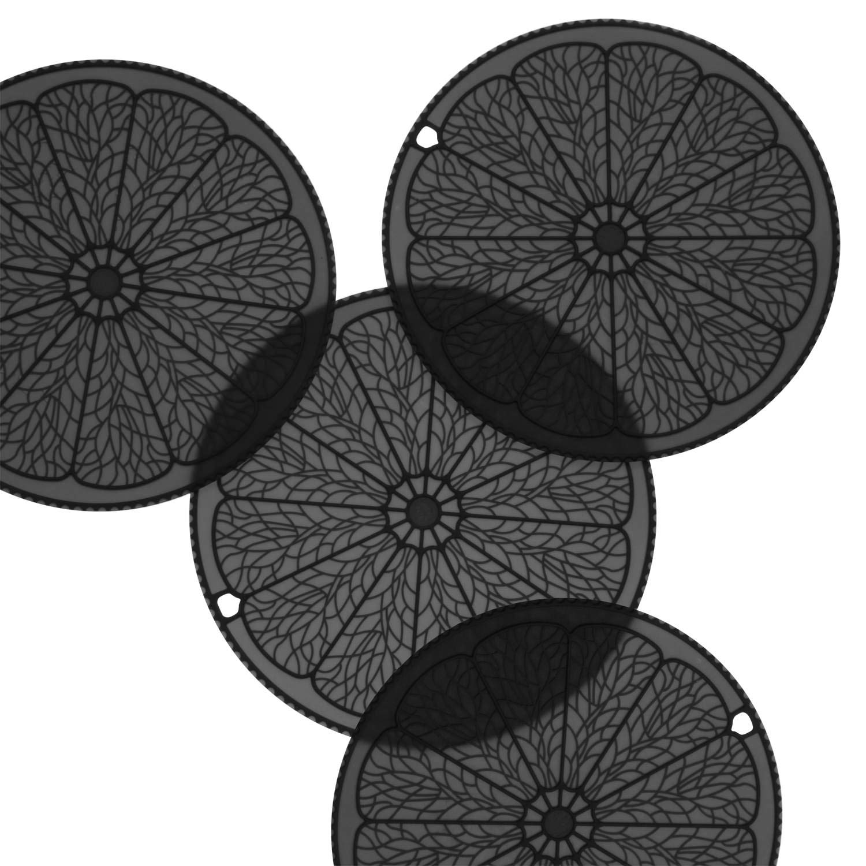 iddomum Silikon Untersetzer (4er-Set), Topfuntersetzer, Flexibel, isolierend, strapazierbar und Rutschfest (Grau)
