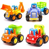 FunBlast Unbreakable Automobile Car Toy Set- Push and Go Crawling Toy, Toy Car for Kids and Children, Vehicle Toy Set. (Unbreakable Set of 4)