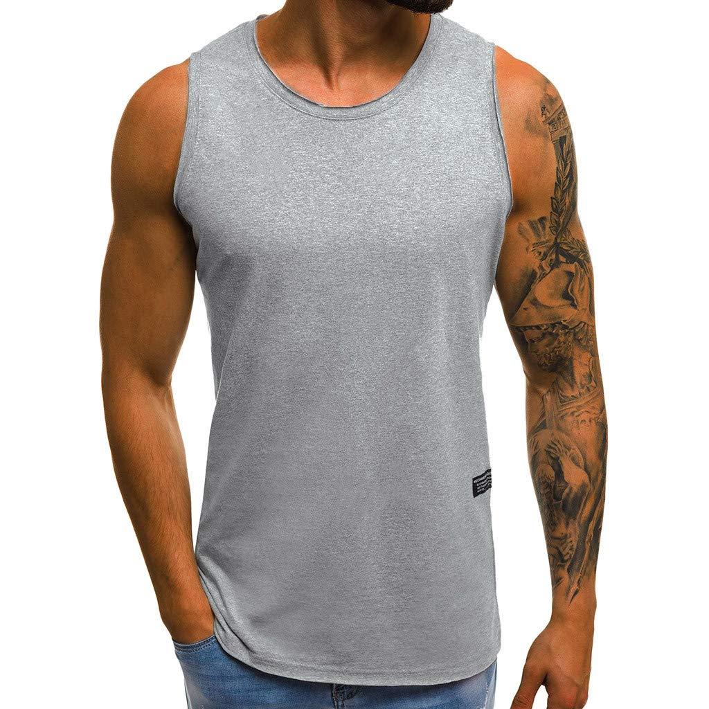 Beikoard_ Chaleco de Aptitud de Hombres musculoso Chaleco Casual(M-3XL,3 Colors),Camiseta con Capucha de Deportes para Hombre, Sudaderas para Hombre Tops Camisa sin Mangas de Verano Fitness - YB028