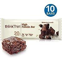 Think Thin Barra de Proteína, Sabor Brownie, 60 g caja con 10 pzas.