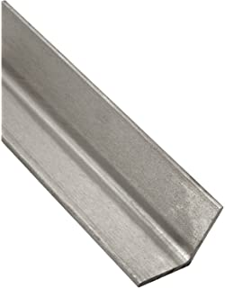 Finish 1-1//2 Leg Lengths Mill A36 Steel Angle Rounded Corners 0.1875 Wall Thickness Equal Leg Length ASTM A36 Unpolished 72 Length