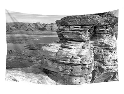 bb73565a9b2 Amazon.com  PUPBEAMO PRINTS Lake and Red Rocks - Wall Tapestry Art ...