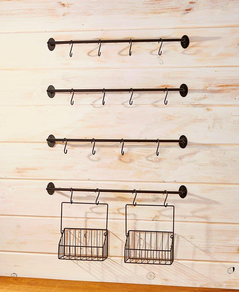 The Lakeside Collection 6-Pc. Coffee Mug Wall Rack