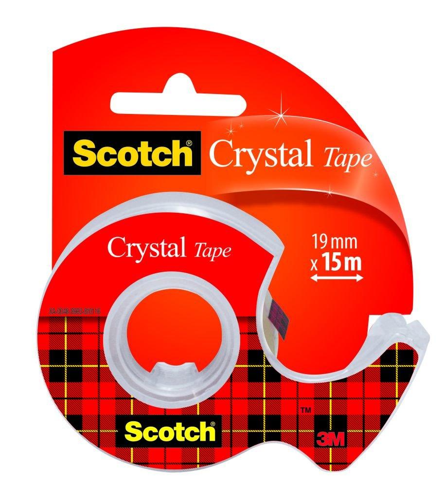 Trasparente 19 mm x 7,5 m Scotch 3M Crystal Tape Nastro Adesivo