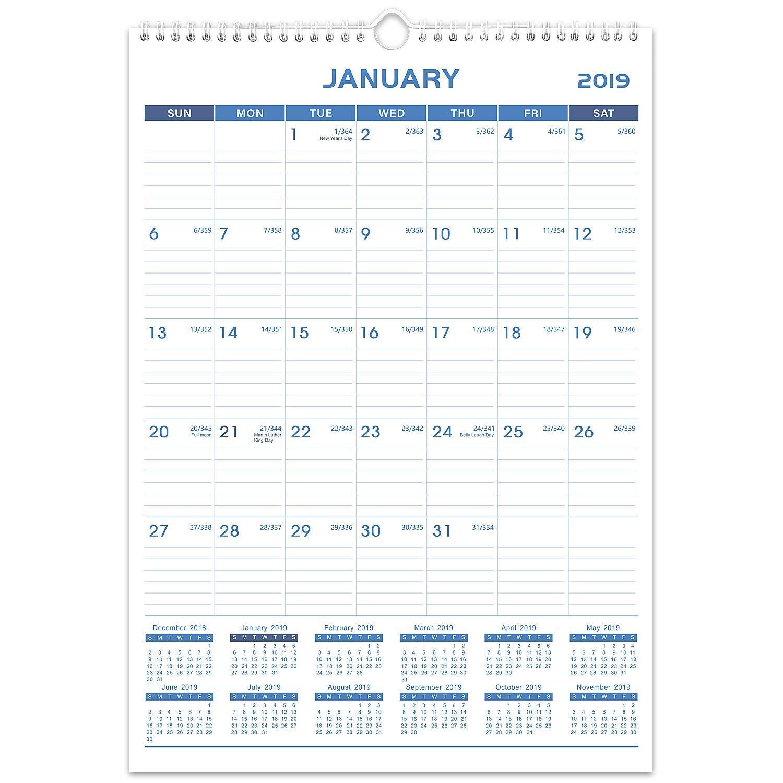 Amazon Com 2019 Wall Calendar Calendar Planner 2019 12 X 17