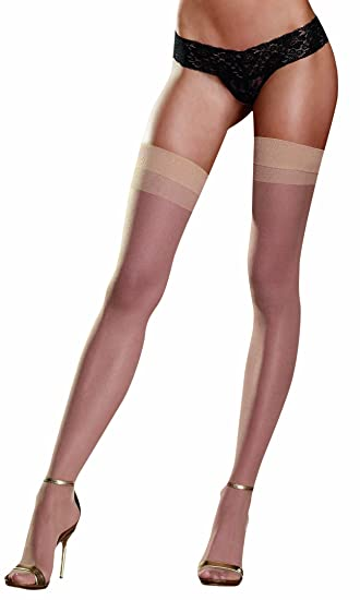 2a61ccd19 Amazon.com  Dreamgirl Women s Thigh High with Back Seam