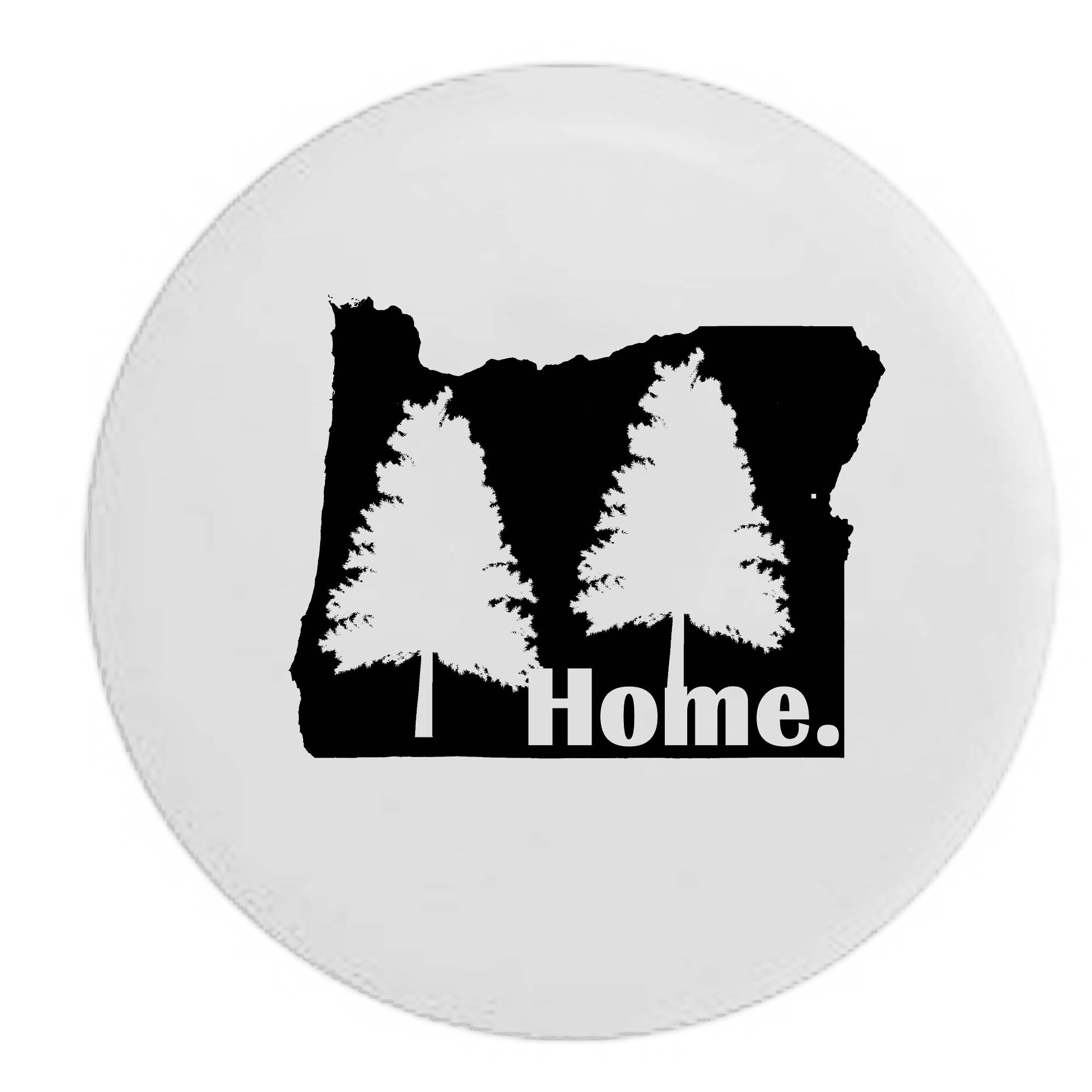 Oregon Pine Trees Home State Edition RV Spare Tire Cover OEM Vinyl White 30 in by Pike Outdoors