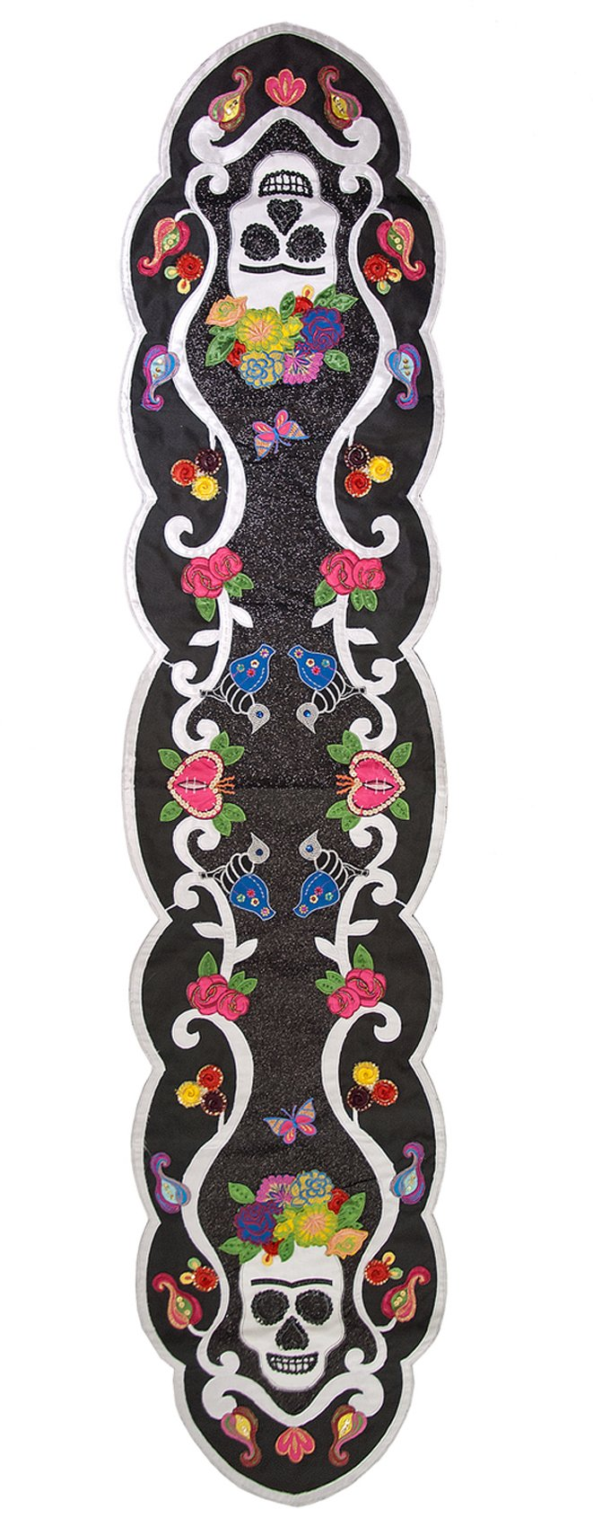 Katherine's Collection Frida Day of the Dead Sequin Embellished 72'' Table Runner