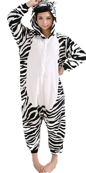 iNewbetter Halloween Costumes Sleepsuit Costume Cosplay Kigurumi Onesie Pajamas Zebra L  sc 1 st  Amazon.com & Amazon.com: iNewbetter Halloween Costumes Sleepsuit Costume Cosplay ...