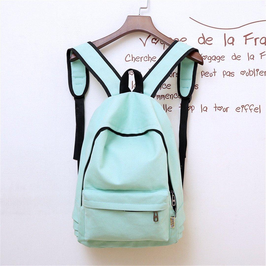 Amazon.com   Canvas Pure Color School Backpack For Adolescent Girl Female Travel Women Backpack Shoulder Bag Rucksack Red 38cmx28cmx12cm   Kids Backpacks