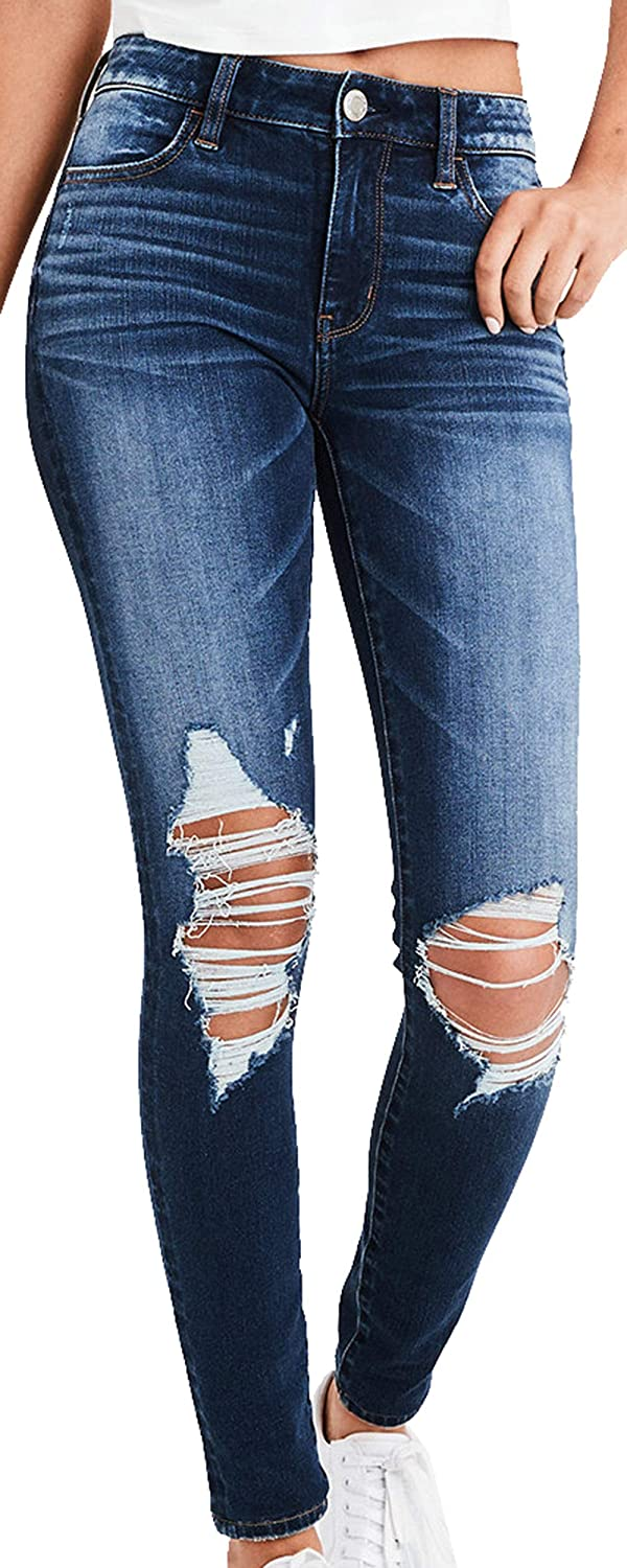 2c8fbf661f399 American Eagle Womens 1605927 High Rise Ne(X) t Level 360 High-Waisted  Jegging, Darkest Dazzler at Amazon Women's Clothing store: