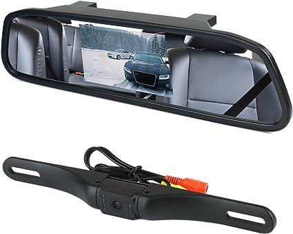 "Espejo Retrovisor con Camara LCD Backup Trasera Kit 4.3/"" Coche Estacionamiento"