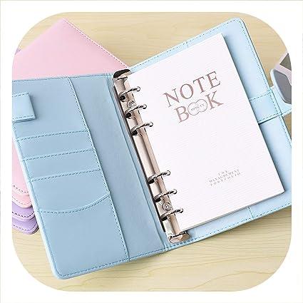 Amazon.com : Lose skye cute notebook A5 spiral planner A6 pu ...
