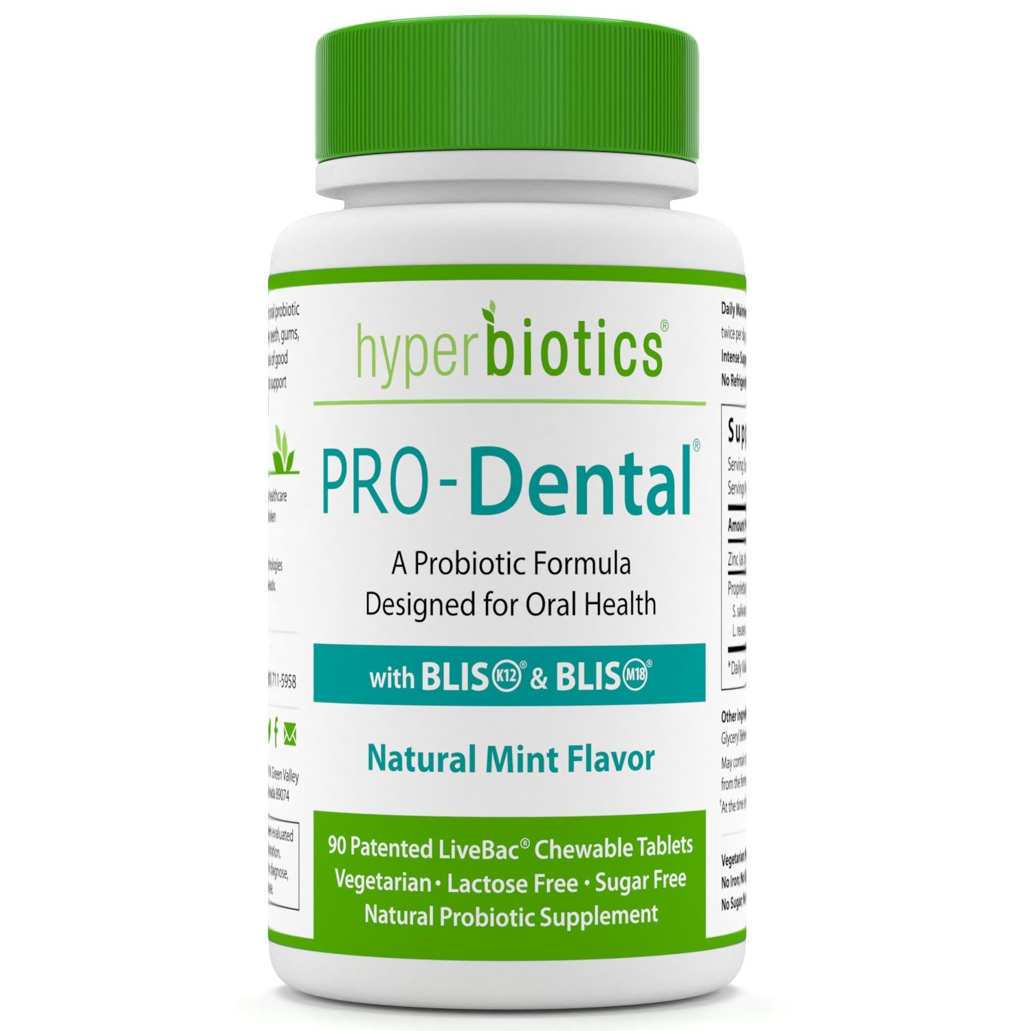 PRO-Dental: Probiotics for Oral & Dental Health - Targets Bad Breath at its Source - Top Oral Probiotic Strains Including S. salivarius BLIS K12 & BLIS M18 - Sugar Free (Chewable) - 90 Day Supply