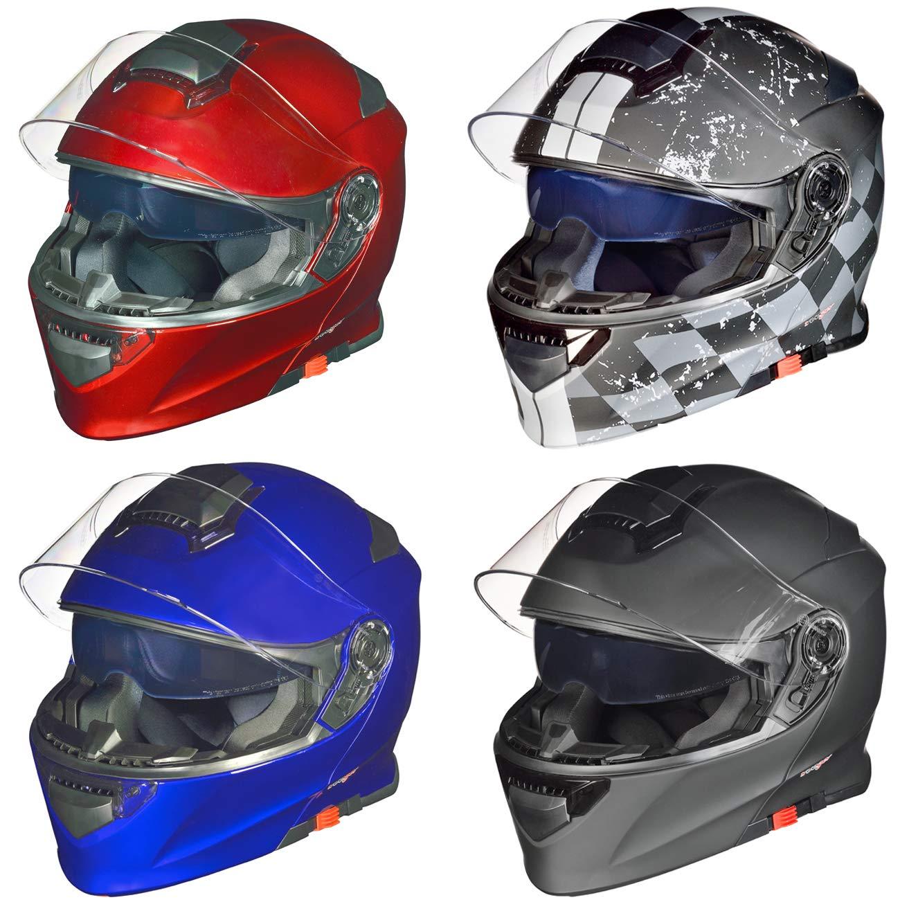 57-58 RS-982 Klapphelm Motorradhelm Conzept Motorrad Modular Roller Helm rueger Gr/ö/ße:M Farbe:Blau