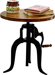 product image for Carolina Chair and Table Brook Adjustable Crank Accent Table, Chestnut/Black
