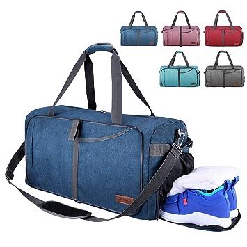 2dfaf6304b6be CANWAY Faltbare Reisetasche faltbar leichte Sporttasche mit ...