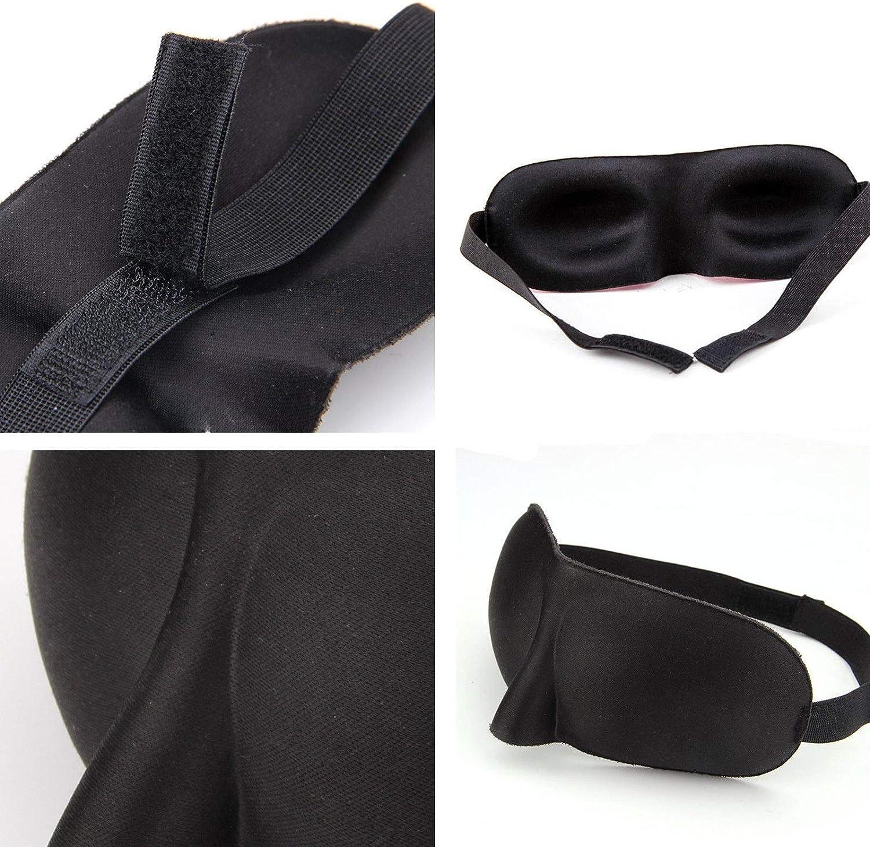 Glamza Masque de sommeil rembourr/é 3D Noir 1 unit/é