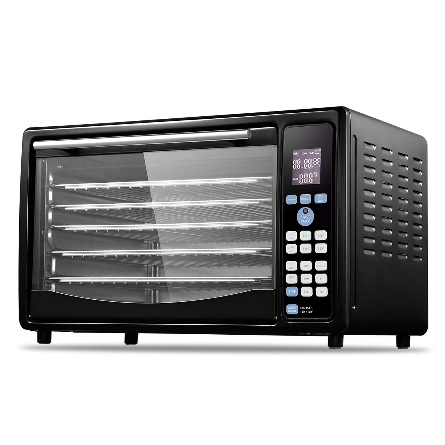 GOLUX Multi-Use Smart Convection Countertop Ovens with 5 Drying Trays, Digital Temperature Controls and Timer, with Food Dehydrator Function
