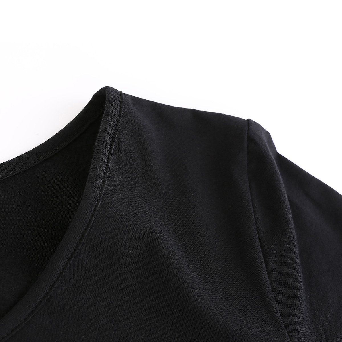 Maternity Shirt Maternity Tank Tops Maternity Top Womens Pregnancy Shirts Clothes Black L by Peauty (Image #4)