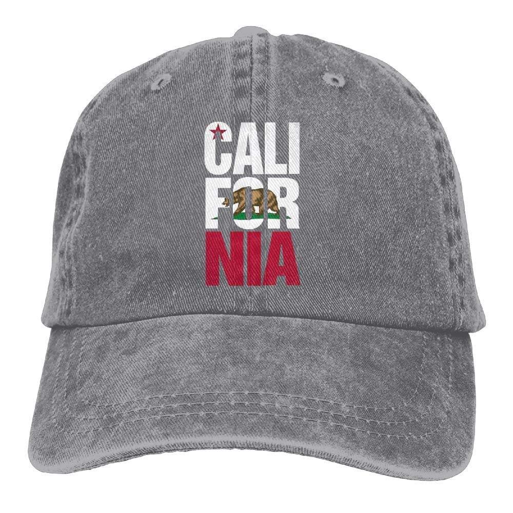 bowlife California Republic Cali Unisex Denim Baseball Cap Adjustable Snapback Hats