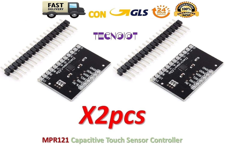 TECNOIOT 2pcs MPR121 Breakout V12 Capacitive Touch Sensor Controller Module I2C Keyboard …