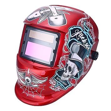 TOPmountain Máscara De Soldadura De Oscurecimiento Automático Solar Máscara Casco De Soldadura, Soldadura De Oscurecimiento Máscaras De Soldadura De ...