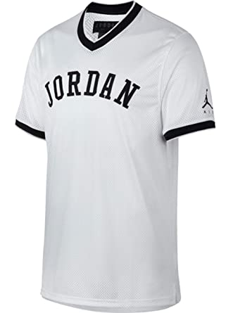 9d6a6de840242 Jordan T-Shirt - Sportswear Jumpman White/Black Size: L (Large):  Amazon.co.uk: Clothing