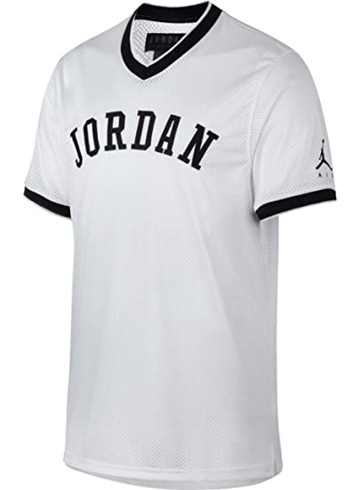 online store fbd63 8c9ed Jordan T-Shirt - Sportswear Jumpman White Black Size  L (Large)   Amazon.co.uk  Clothing