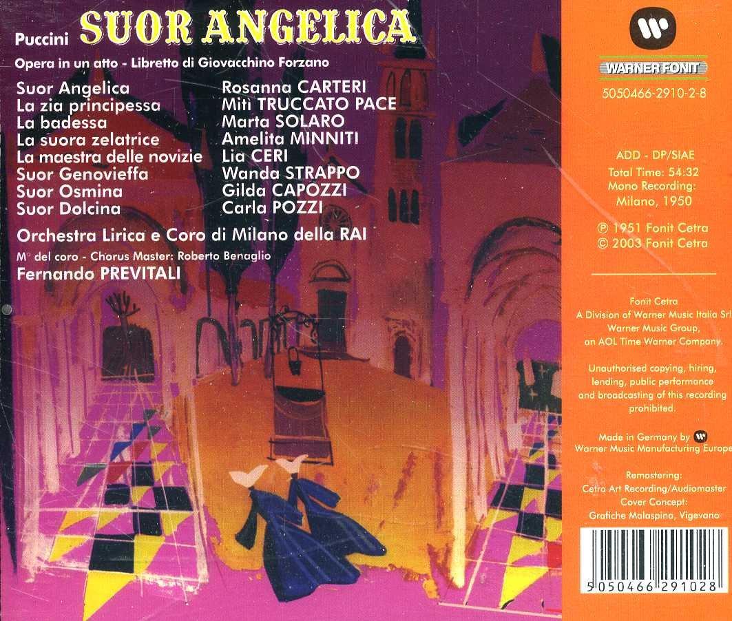 Giacomo Puccini, Fernando Previtali, Orchestra Linca e Coro di Milano della RAI, Rosanna Carteri, Miti Truccato Pace, Marta Solaro, Lia Ceri, ...