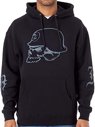 Mens Metal Mulisha Black Charlie Dont Ride Pullover Hoodie