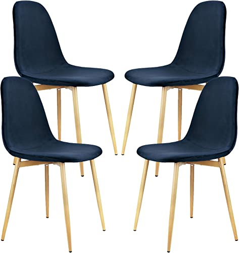 YJCfurniture Dining Chairs Set of 4 Mid Century Modern Side Chairs,Retro Velvet Upholstered Dining Chair