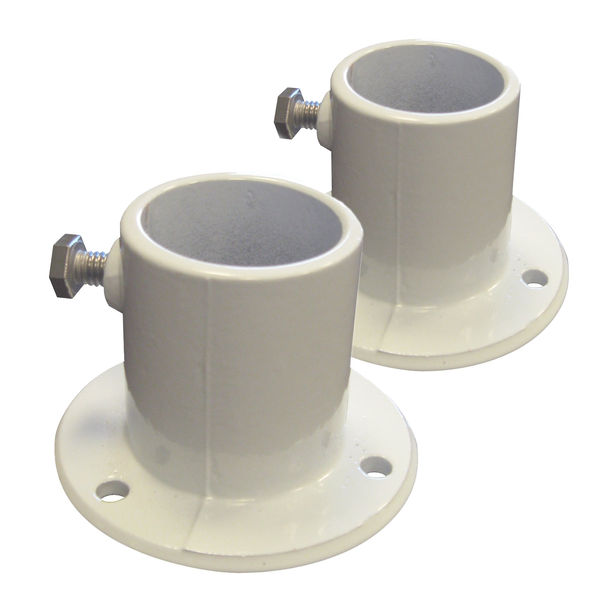 Blue Wave NE1228PR Aluminum Deck Flanges for Above Ground Pool Ladder, Pair by Blue Wave