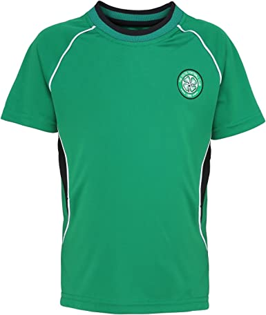 4-5 Years Celtic FC Official Kid/'s Club Poly T-Shirt Green New