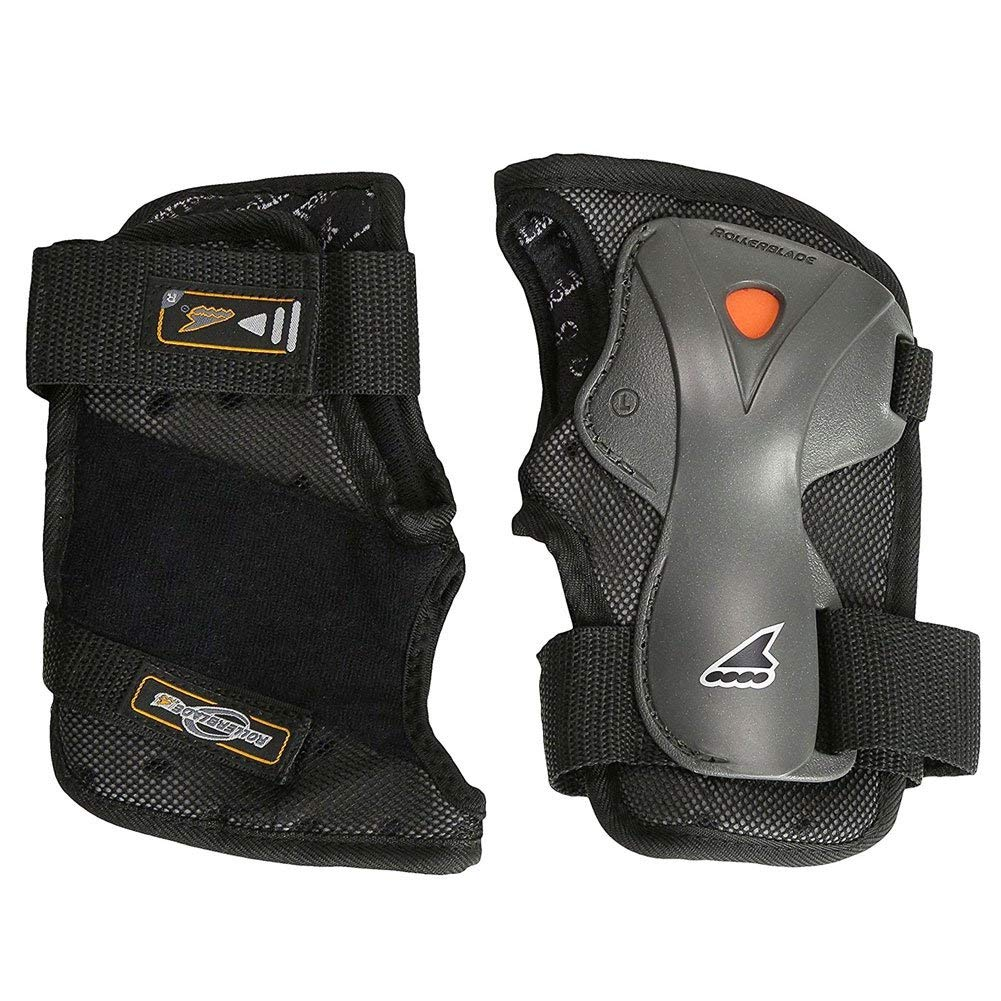 Rollerblade Luxgear Plus Wrist Guards Protective Gear,Multi Sport Protection, Unisex, Black