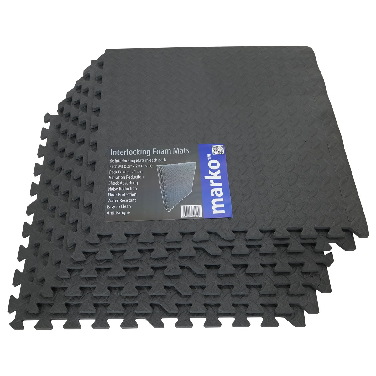 24 sq ft interlocking foam mats tiles gym play garage workshop 24 sq ft interlocking foam mats tiles gym play garage workshop floor dark grey amazon sports outdoors doublecrazyfo Choice Image
