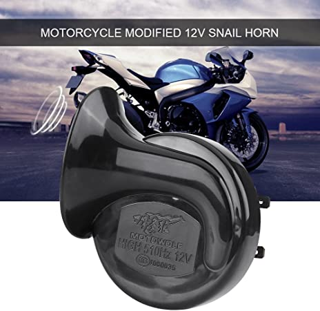 Qiilu 12V 510HZ 110dB Universal Loud Electric Snail Horn for Motorcycle Car LoudSpeaker Gold