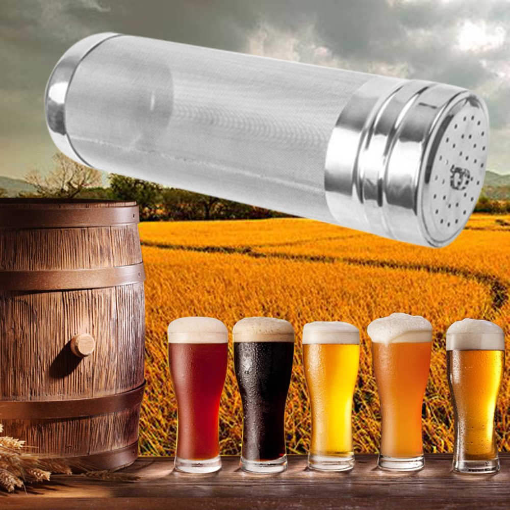 Aobiny Beer Tool, DIY Homebrew Stainless Steel Brew Filter Dry Hopper Home Combo Beer Hop Spider (18cm x 7cm)