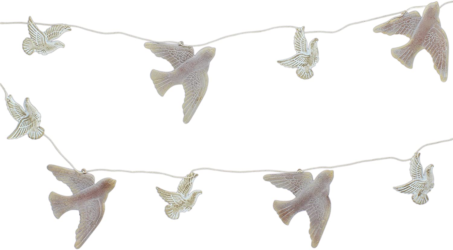 "Midwest-CBK 78"" Silver Metal Flying Birds Garland"